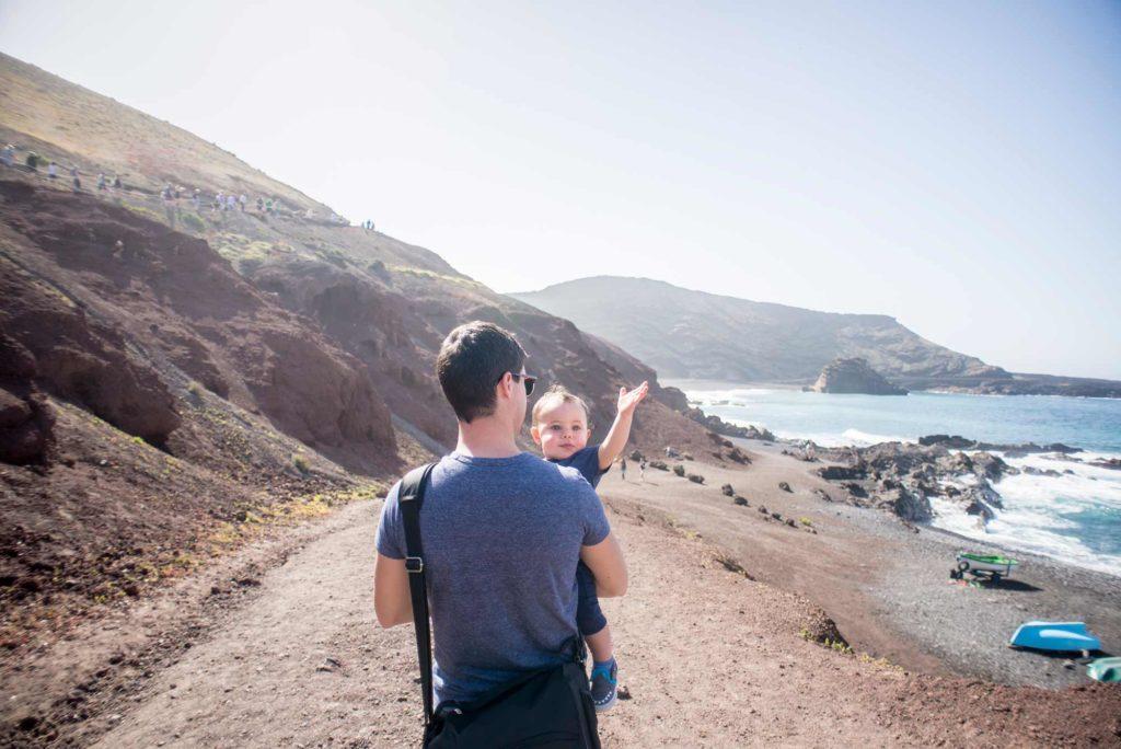 Sulla strada per Lago Verde, Lanzarote