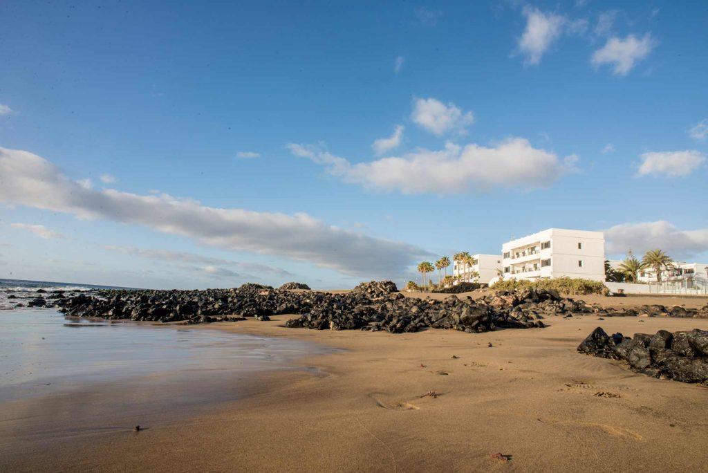 Playa grande a Puerto del Carmen, Lanzarote