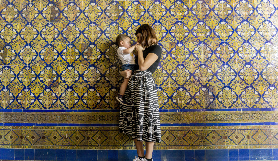 Siviglia con un bambino di 20 mesi