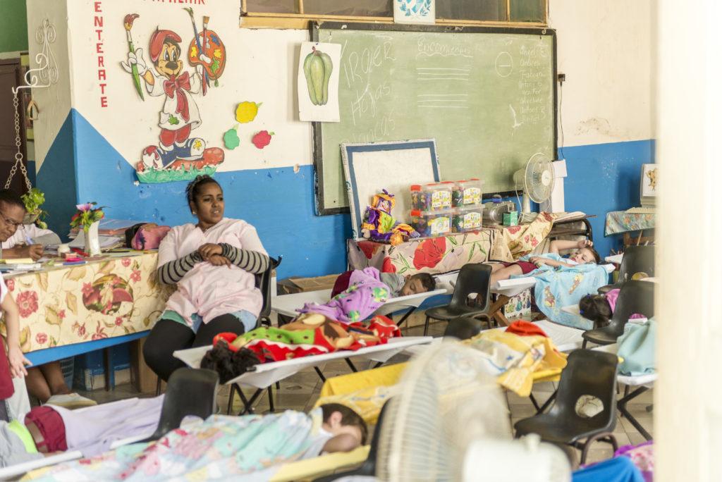 Momento del riposo in un'asilo a Trinidad